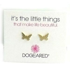 Dogeared Small Cute Butterfly Stud Earrings